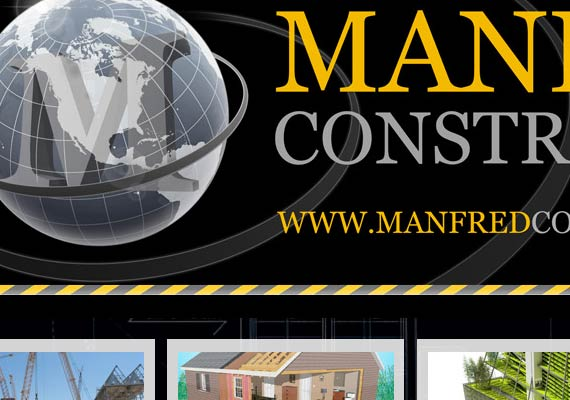 Wordpress website design for Manfred Construction Group